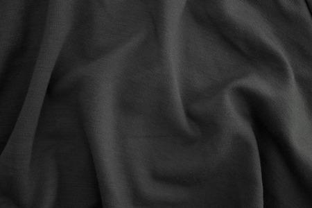 Eine Nahaufnahme der zerknitterten Stoff Standard-Bild
