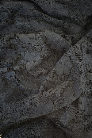 black lace: A close up shot of lace fabric Stock Photo