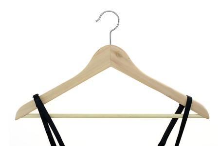 A close up shot opt a coat hanger photo
