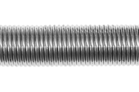 springy: A close up shot of a coil spring Stock Photo