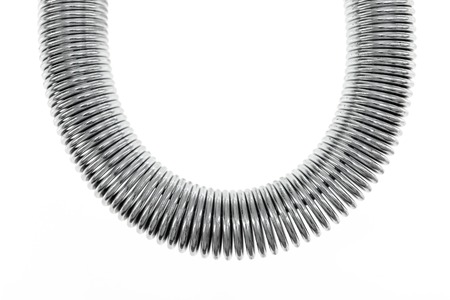 coil spring: A close up shot of a coil spring Stock Photo