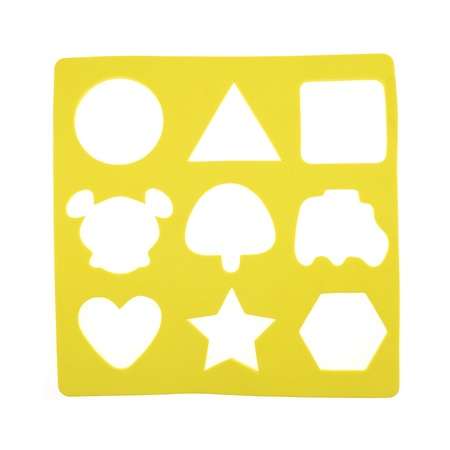 A close up shot of a childs shape finder game photo