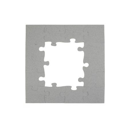 A close up shot of jigsaw pieces photo