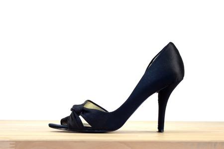 women subtle: A close up shot of high heel shoes Stock Photo
