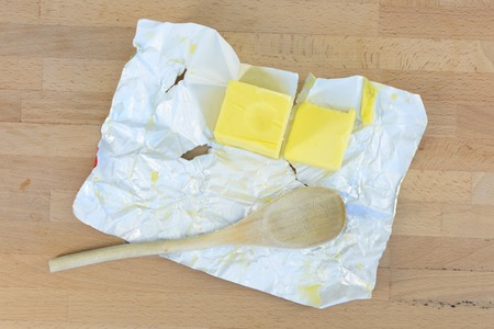 butterfat: A close up shot of cooking butter