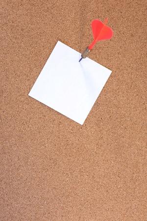cork board: A close up shot of a cork notice board Stock Photo