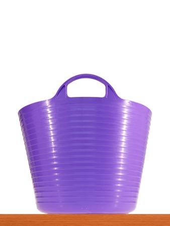 A close up shot of a washing basket photo