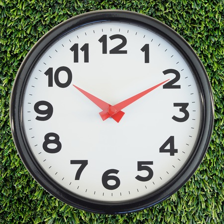 analogue: A close up shot of an analogue clock Stock Photo