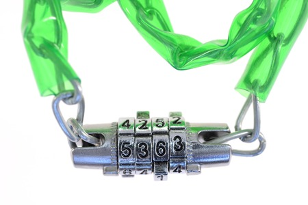 spy ware: A close up shot of a combination chain Stock Photo