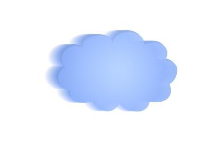 webserver: A cloud illustration on a white background