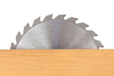 Een close-up shot van een cirkelzaagblad