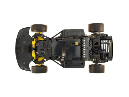 radio unit: A close up shot of a RC control vehicle Stock Photo