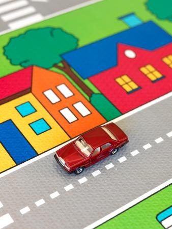 playmat: A close up shot of a childs play mat