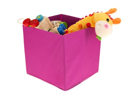 A close up shot of a toy storage box Stock Photo