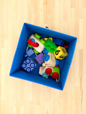 antiquated: A close up shot of a toy storage box Stock Photo