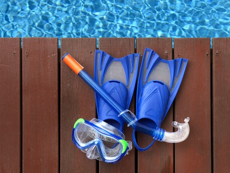 side effect: A close up shot of pool side items