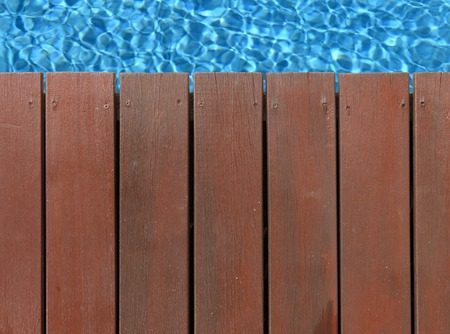 timber: A close up shot of timber decking Stock Photo