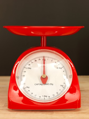 A close up shot of a set of food scales