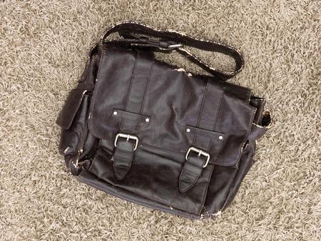 gent's: A close up shot of a gents shoulder bag Stock Photo