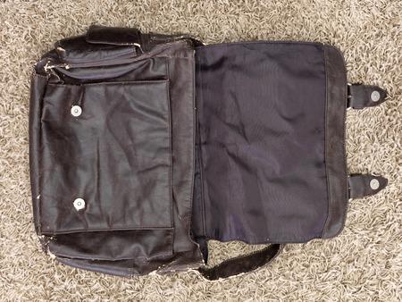 gents: A close up shot of a gents shoulder bag Stock Photo