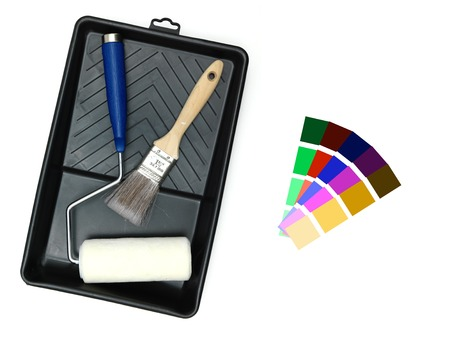 luxe: A close up shot of painting equipment