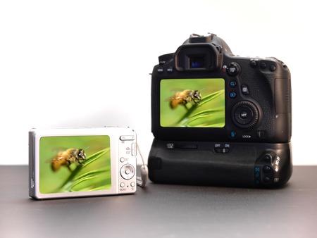 megapixel: A close up of a compact digital camera Stock Photo