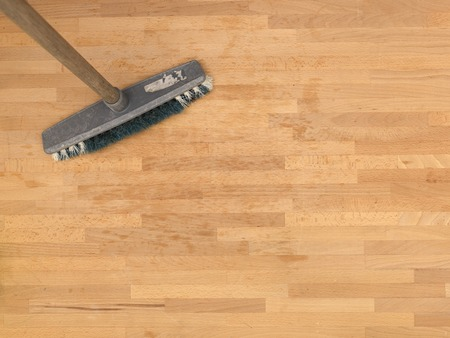 A close up shot of household floor cleaning items photo