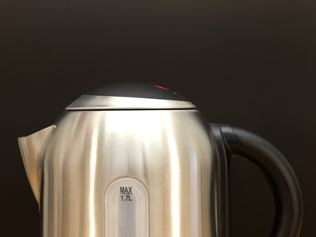 electric tea kettle: A close up shot of an electric kettle