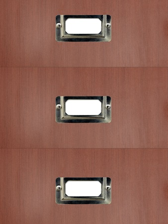 dossier: A close up shot of business filing cabinets Stock Photo