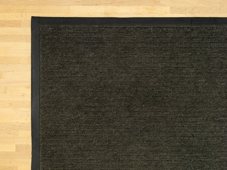 A close up shot of a door mat