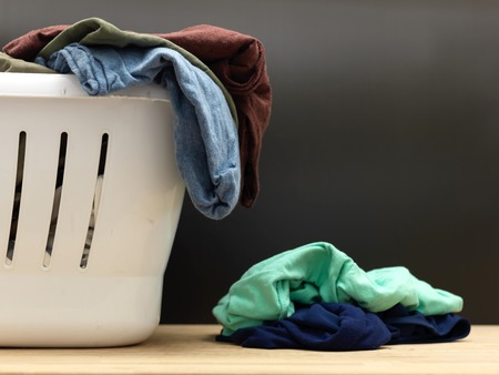 laundry concept: A shot of ironing and laundry items Stock Photo