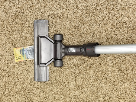 household money: A close up shot of a vacuum cleaner Stock Photo
