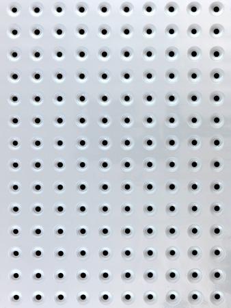 peg board: A close up shot of a workshop peg board
