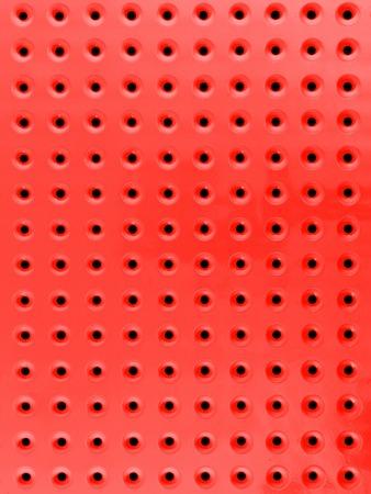 A close up shot of a workshop peg board