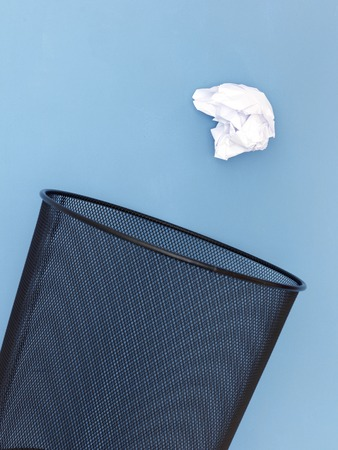 wastebasket: A close up shot of a trash can Stock Photo