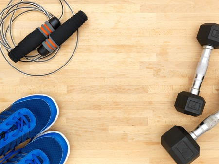 stillife: A close up shot of exercise equipment