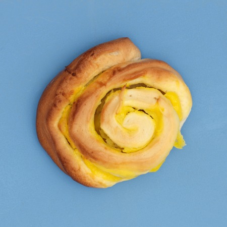 flavorsome: A close up shot of pastry custard scrolls