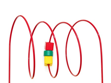 ing: A close up shot of a geometric count ing toy