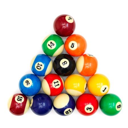 bola ocho: A close up shot billiard balls Foto de archivo