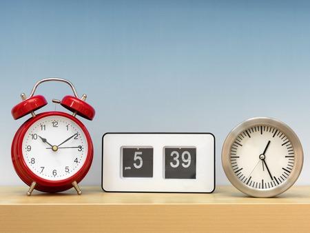 analogue: A close up shot of analogue clocks Stock Photo
