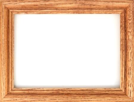 decorative wall: A photo frame on a wooden shelf