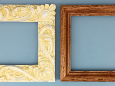 mocks: photo frames on a shelf Stock Photo