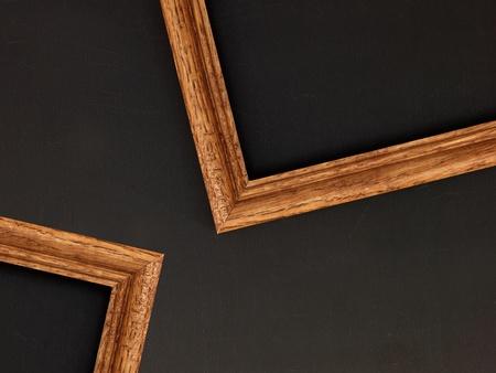 mocks: photo frames on a wooden shelf