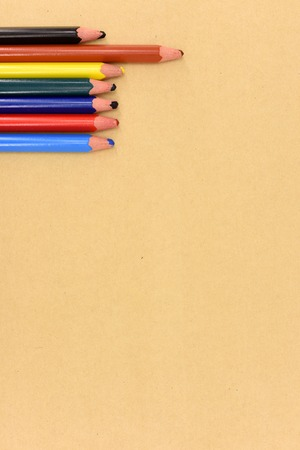 enumeration: A studio photo of color pencils up close