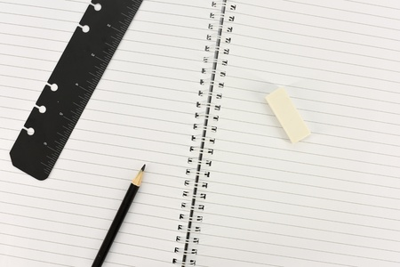 stationery items: A studio photo of stationery items up close