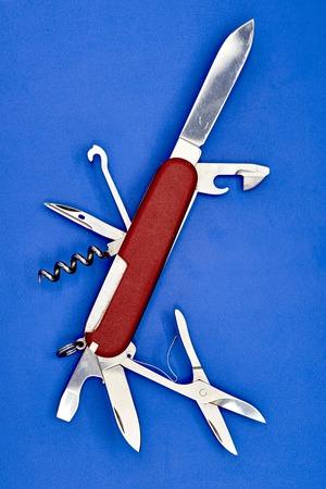 pocket knife: A studio photo of a pocket knife Stock Photo