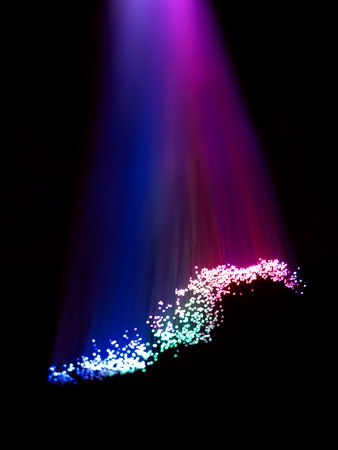fibres: A close up photo of optic fibres Stock Photo