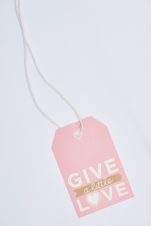 price label: Give alittle love tag
