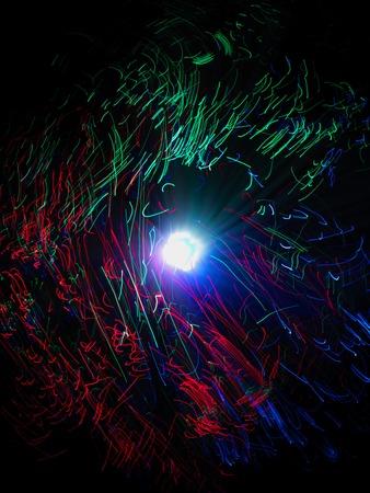 photon: A close up photo of optic fibres Stock Photo