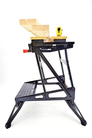 sawhorse: An industrial work bench
